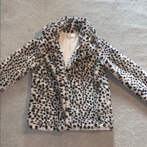 Jackets & Blazers - Fuzzy Printed Jacket